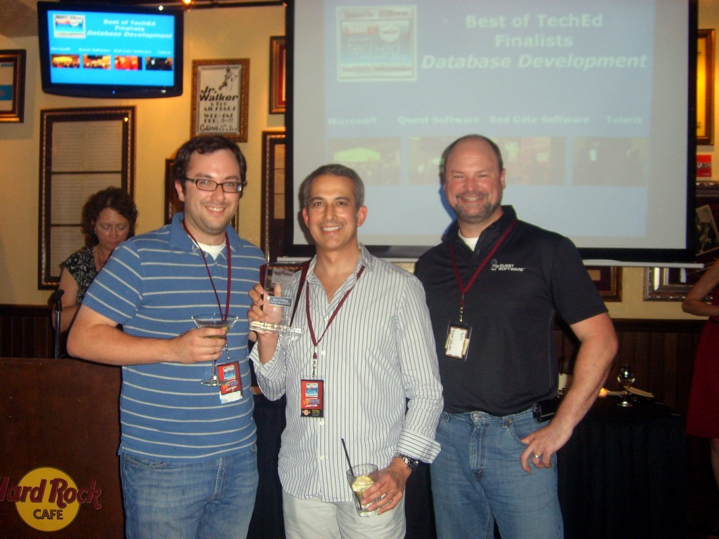 "Toad - Winner of ""Best of TechEd in Database Development"""