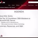 Top 10 DBA Mistakes on SQL Server
